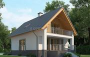 Дом из сип панелей размером 7х8 для круглогодичного проживания