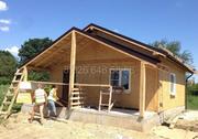 Модель домика размером 7, 5 х 7, 5 метров