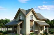 Проект представляет собой загородный дом из сип-панелей.
